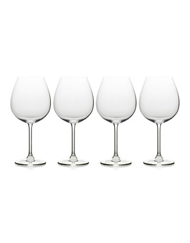 Mikasa Julie Four-Piece Stem Red Wine Drinking Glass Set-CLEAR-One Size