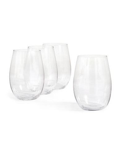 Mikasa Set Of Four Julie Stemless Wine Glasses-CLEAR-One Size