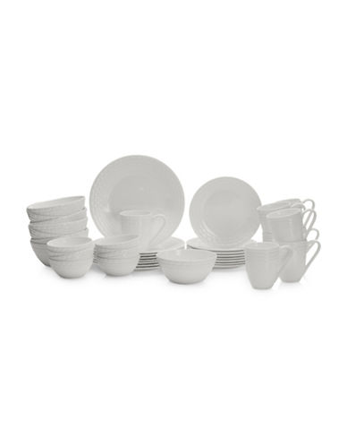 Mikasa Palazzo 40-Piece Dinnerware Set-WHITE-One Size