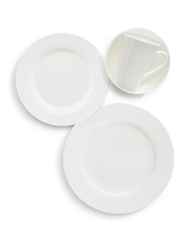 Mikasa Lucerne White 16-Piece Dinnerware Set-WHITE-One Size