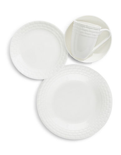 Mikasa Palazzo 16-Piece Dinnerware Set-WHITE-One Size