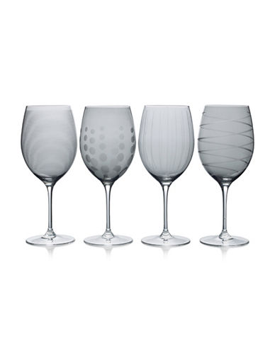 Mikasa Four-Piece Cheers Red Wine Glasses Set-SMOKE-One Size