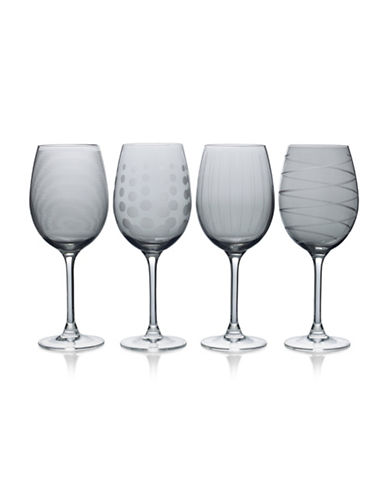 Mikasa Four-Piece Cheers White Wine Glasses Set-SMOKE-One Size