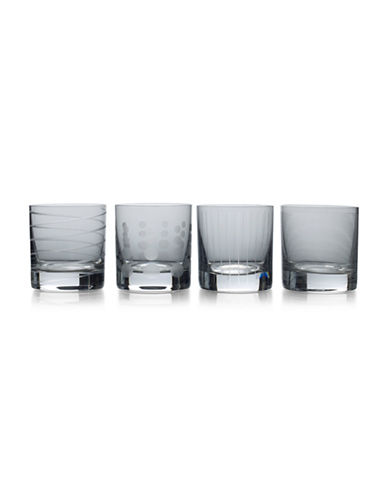 Mikasa Four-Piece Cheers Double Old Fashioned Glasses Set-SMOKE-One Size