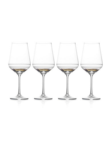 Mikasa Four-Piece Lux Gold Goblet Set-GOLD-One Size