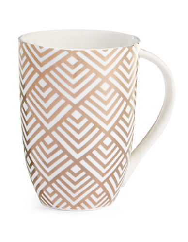 Mikasa Geo Diamond Bone China Mug-GOLD-One Size