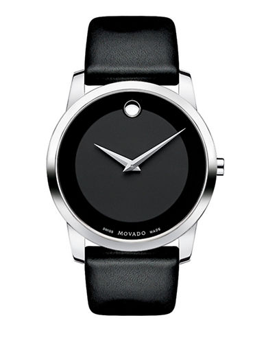 Movado Men's Museum Classic Watch-BLACK-One Size