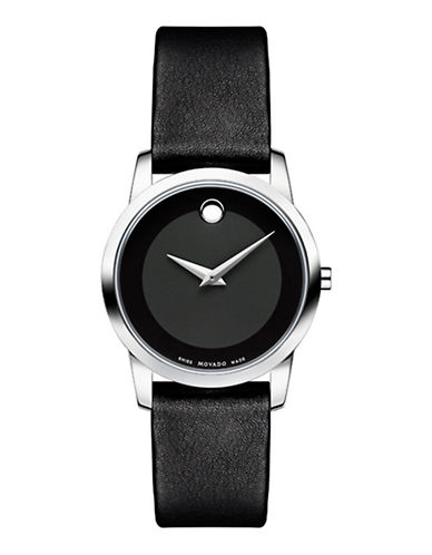 Movado Museum Classic Watch-BLACK-One Size