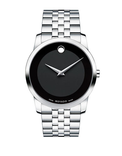 Movado Mens Museum Classic Watch-SILVER-One Size