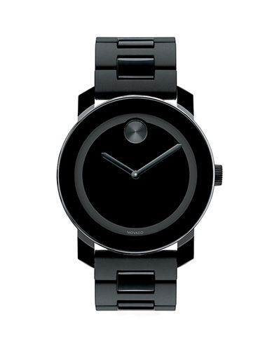 Movado Bold Bold Black TR90 Composite & Stainless Steel Bracelet Watch-BLACK-One Size