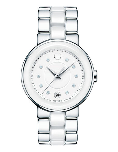 Movado Womens Cerena Watch-SILVER-One Size