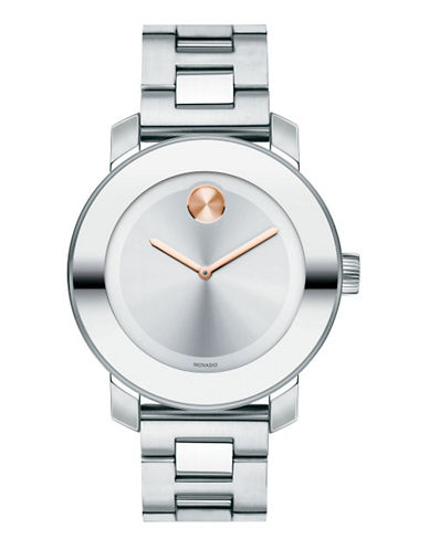 Movado Bold Mens  Bold Watch-SILVER-One Size