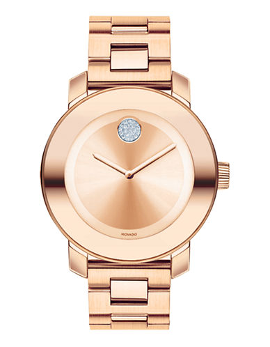 Movado Bold Rose Gold Plated Stainless Steel Watch-ROSE GOLD-One Size