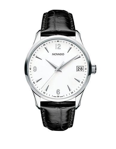 Movado Men's 40MM Circa Watch-BLACK-One Size