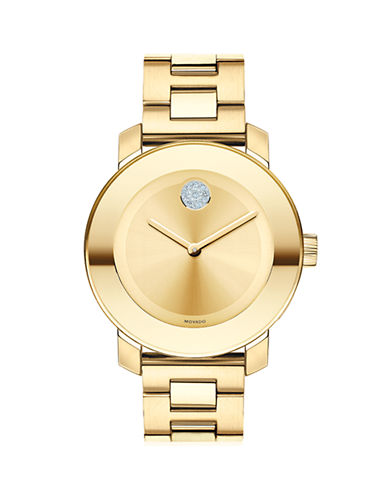 Movado Bold Bold Goldtone Museum Dial Watch-GOLD-PLATED STAINLESS STEEL-One Size