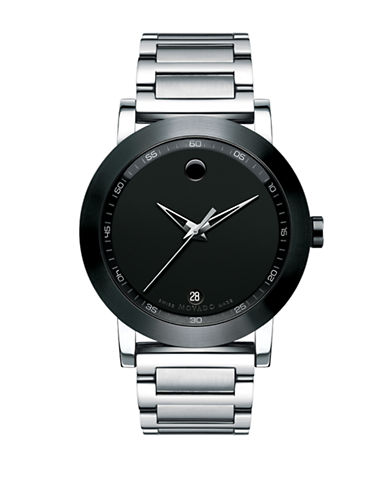 Movado Museum Sport Stainless Steel Case Bracelet Pvd-SILVER-One Size