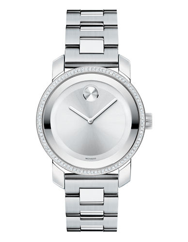 Movado Bold Womens Stainless Steel Watch-SILVER-One Size
