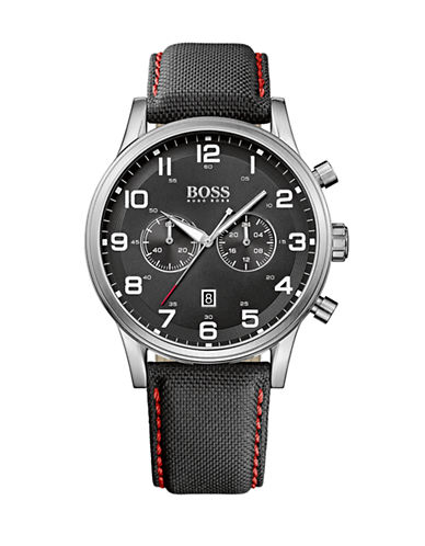 Boss Mens Chronograph Aeroliner 1512919 Watch-BLACK-One Size