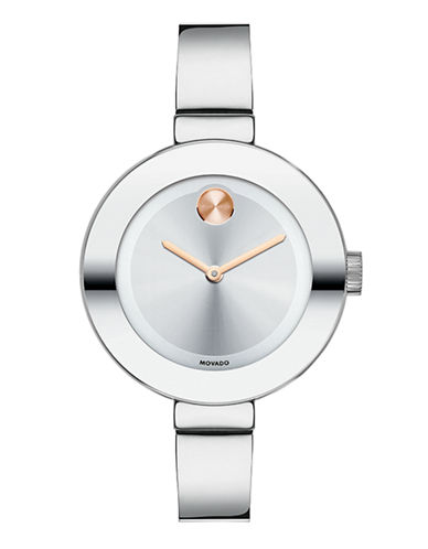 Movado Bold Stainless Steel Watch-SILVER-One Size