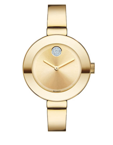Movado Bold Mid-Size Yellow Goldtone Bold Watch-GOLD-One Size