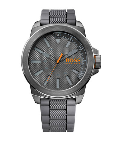 Boss Orange Mens New York Oversized Watch-GREY-One Size