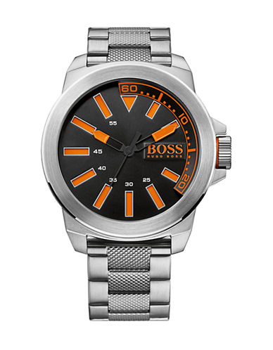 885997113625. Hugo Boss Stainless Steel Analog New York Watch  1513006-SILVER-One Size 5480cc62ab6