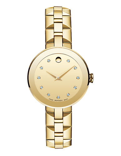 Movado Ladies Sapphire Watch-GOLD-One Size 86853879_GOLD_One Size