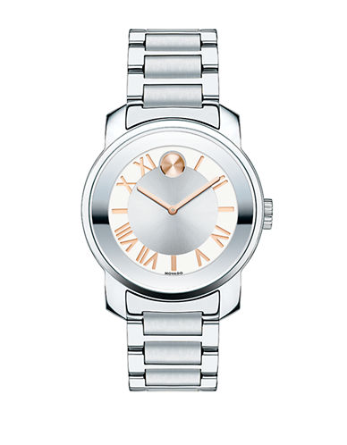 Movado Bold Bold Luxe Stainless Steel Watch-SILVER-One Size