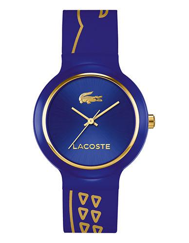 Lacoste Goa Crocodile Silicone Strap Watch-BLUE-One Size