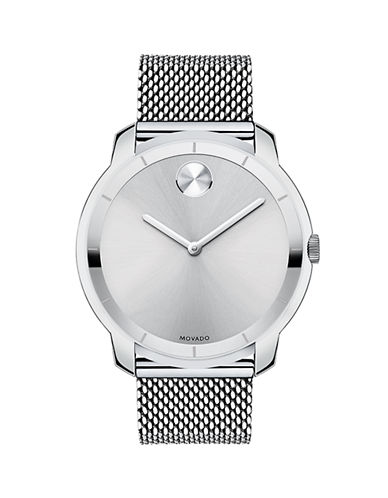 Movado Bold Bold Stainless Steel Mesh Bracelet Watch-SILVER-One Size