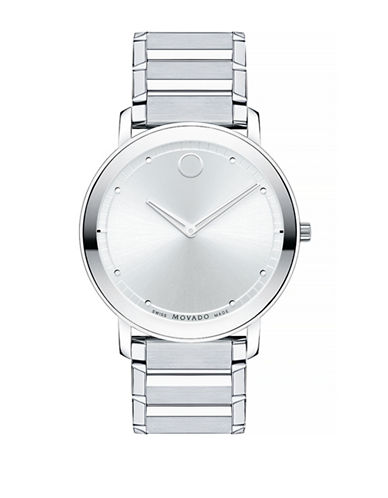 Movado Sapphire Stainless Steel Analog Watch-SILVER-One Size
