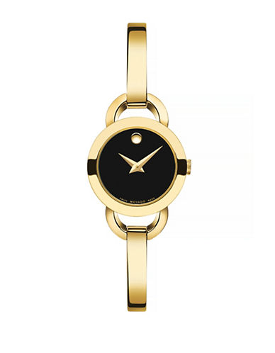 Movado Rondiro Goldtone Analog Watch-GOLD-One Size