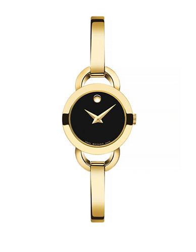 Movado Rondiro Goldtone Analog Watch-GOLD-One Size