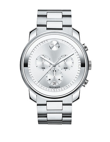 Movado Bold Chrono Bold Stainless Steel Watch-SILVER-One Size