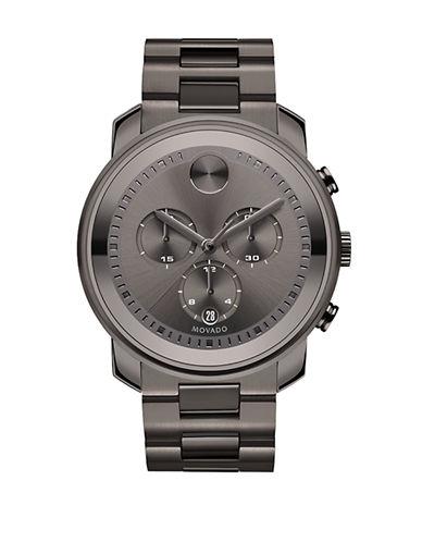 Movado Bold Chrono Bold Gunmetal Watch-GREY-One Size