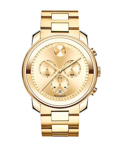 Movado Bold Chrono Bold Gold Watch-GOLD-One Size