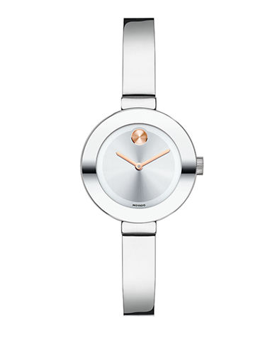 Movado Bold Bold Small Stainless Steel Watch-SILVER-One Size