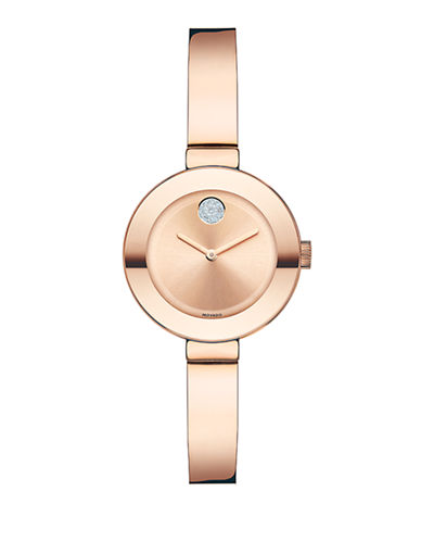 Movado Bold Bold Small Rose Gold-Plated Watch-ROSE GOLD-One Size