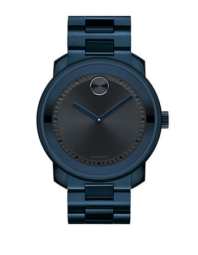 Movado Bold Bold Large Stainless Steel Watch-BLUE-One Size