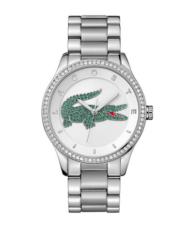 Lacoste Womens Analog Victoria Stainless Steel Bracelet Watch-SILVER-One Size