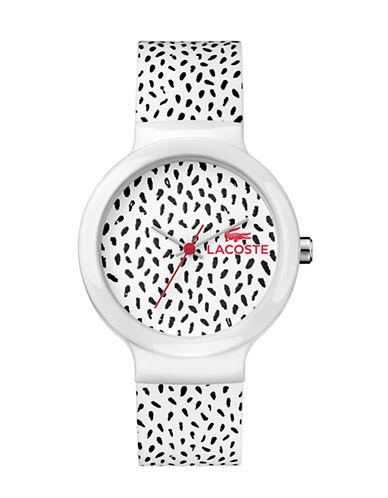 Lacoste Unisex Analog Goa Watch 2020095-BLACK/WHITE-One Size
