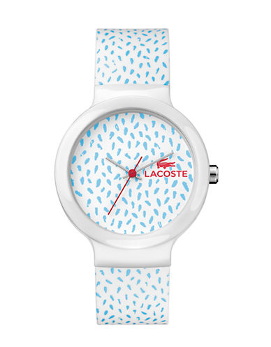 Lacoste Unisex Analog Goa Watch 2020096-BLUE/WHITE-One Size