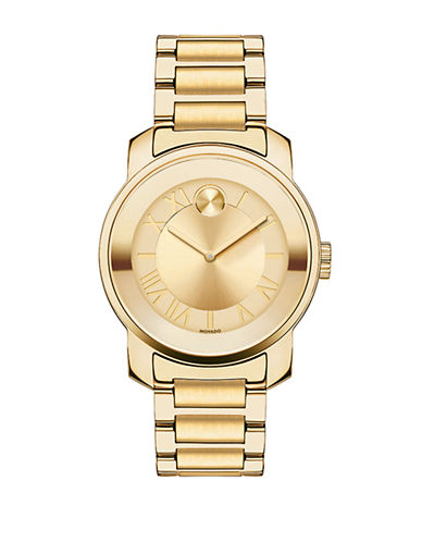 Movado Bold Bold Luxe Yellow Gold-Plated Watch-GOLD-One Size