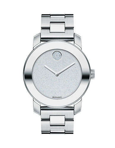 Movado Bold Analog Bold Stainless Steel Watch-SILVER-One Size