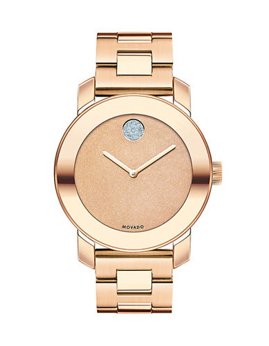 Movado Bold Analog Bold Rose Goldtone Watch-ROSE GOLD-One Size