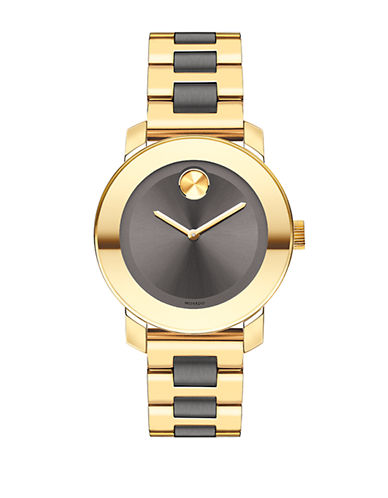 Movado Bold Bold Mid-Size Gold-Plated Watch-TWO TONE-One Size