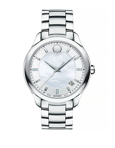 Movado Bellina Stainless Steel Analog Watch-SILVER-One Size
