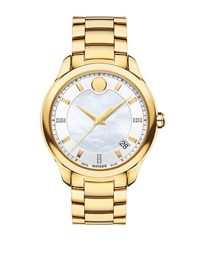 Movado Bellina Goldtone Stainless Steel Watch-GOLD-One Size