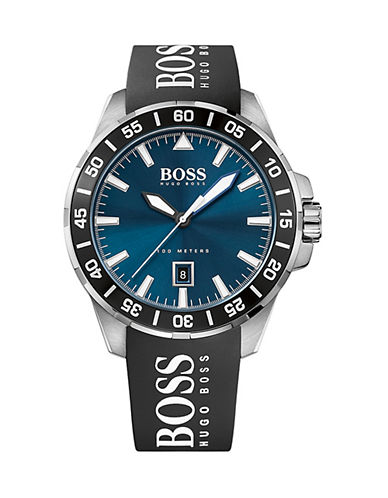 Boss Analog Deep Ocean Watch with Printed Band-BLUE-One Size