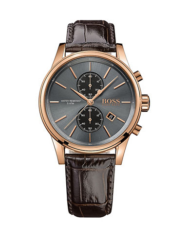Boss Chronograph Jet Watch with Black Band-BROWN-One Size